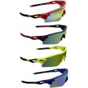 Zyaden Round Sunglasses(Yellow, Green, Yellow, Blue)