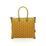Gabs Borsa Donna Shopping G4 in gomma con stampa stella giallo+nero L