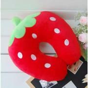 Red Strawberry U Shape Feeding & Nursing Baby Neck Pillow