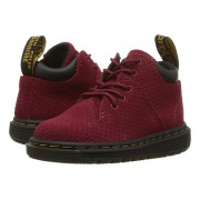 Dr Martens Parker 5-Eye Lace-Up Monkey Bootie (Toddler) Dark Red Hi Suede Water Perforated