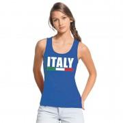 Bellatio Decorations Italie supporter mouwloos shirt/ tanktop blauw dames