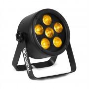 Beamz Professional BAC302, ProPar рефлектор, 6 x 12 W, 6 в 1 LED RGBWA-UV, затъмняване, дистанционно управление (Sky-151.352)