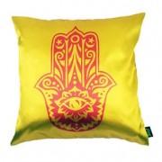 Almofada Hamsa Mão de Deus Amarela