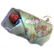 Blueberry Shop for Babies BlueberryShop Classic med kudde Linda Wrap filt sovsäck för nyfödda...