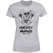 Disney Minnie Mickey Since 1928 Women's T-Shirt - Grey - S - Black