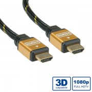 Cable, Roline Gold, HDMI High Speed кабел, HDMI M - HDMI M, 20.0м (11.04.5564)