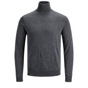 JACK & JONES Superfijne Merinoswollen Coltrui Heren Grijs / DarkGreyMelange / M