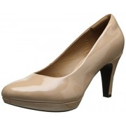 Clarks Women's Brier Dolly Dress Pump, Nude Synthetic, 5.5 M US