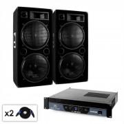 "DJ PA Set Malone 2.0 ""Bass"" с усилвател, 2x високоговорители (PL-1340-21665)"