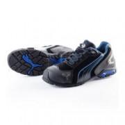 PUMA Chaussures de sécurité PUMA Metro Protect 64.275.0 Rio Black LOW S3 SRC Noire / Bleue - Taille - 45