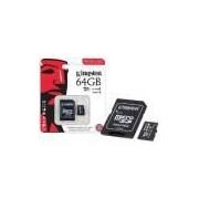 Cartao De Memoria Classe 10 Kingston Sdcit/64gb Micro Sdxc Indus