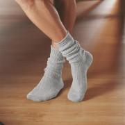 Corgi-Kaschmir-Socken, Damen - 37/38 - Silber