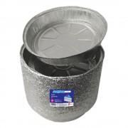 Tavite Rotunde Aluminiu, 23x5 cm,100 Buc/Set, pentru Tort, Forma de Copt Aluminiu, Forma de Copt Unica Folosinta, Tava Rotunda Aluminiu, Tavite Aluminiu de Unica Folosinta, Tavite Aluminiu pentru Tort, Vesela Unica Folosinta