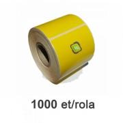 Sárga termo címke 58x43mm 1000 címke/tekercs