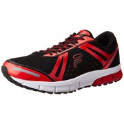 Fila Men's Flex Run Plus Black and Red Running Shoes -9 UK/India (43 EU)
