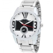 howdy Analog Black n White Dial Stainless Steel Strap Watch For Men's ss503