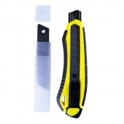 Cutter Mare Willgo 18 mm, Grip Cauciucat si Sistem Autoblocare + 5 Lame Rezerva