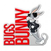 Placa Decorativa de Metal Recortada Perna Longa Looney Tunes