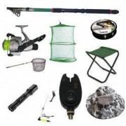 Set lanseta pescuit telescopica eastshark de 3.6m mulineta pentru Pescuit Sportiv si accesorii