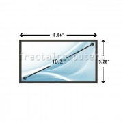 Display Laptop MSI WIND U120-024US 10.2 inch