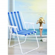 Silla Plegable con Respaldo Para Playa Jardín Camping Balcon