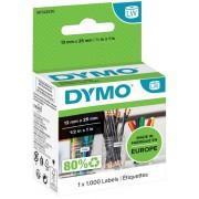 DYMO LW Multifunctionele etiketten 11353 Zwart op Wit 13 mm