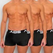 AQS [3 pack] Sport Boxer Brief Underwear Black SBBB