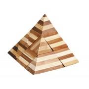 Joc logic IQ din lemn bambus 3D Pyramid