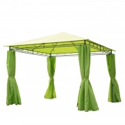 Outsunny 3m x3m Garden Metal Gazebo-Lemon Green
