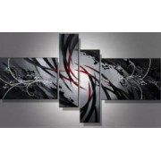 EVA JEKINS Tableaux design gris noir rouge