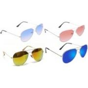Korel Aviator Sunglasses(Blue, Red, Golden)