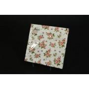 Rózsás papírszalvéta 33x33cm 20db