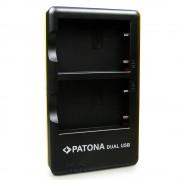 Patona Incarcator Rapid Dual USB pentru Nikon EN-EL5 cu Cablu MicroUSB
