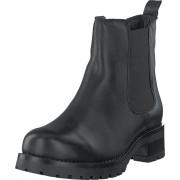 Bianco Biacoral Winter Chelsea Black, Skor, Kängor och Boots, Chelsea Boots, Svart, Grå, Dam, 40