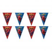 Marvel 2x Marvel Spiderman feestartikelen vlaggenlijnen 230 cm plastic