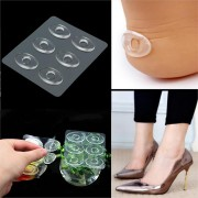 6Pcs Silicone Gel Shoe Insole Inserts Pad Cushion Foot Care Heel Grips Liner