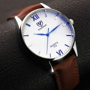 YAZOLE Men's Luxury Leather Watches