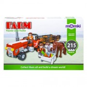 Set constructie tip lego - tractor - 215 piese