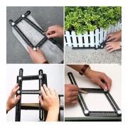 Cuatro De Aleación De Aluminio Plegable REGLA Regla De Medición Multiángulo Multifuncional