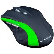 Mouse Wireless Modecom MC-WM5, 1600 DPI, USB (Negru/Verde)