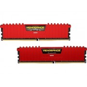 MODULO DDR4 CORSAIR 8GB (2x4GB) 3200MHZ VENGEANCE LPX ROJO