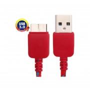 Nylon Red Style Micro USB 3.0 A USB 3.0 De Transferencia De Datos De Carga Cable De Sincronización Para Samsung Galaxy Note N9000 N9002 N9006 III , Longitud: 1m (Rojo )