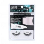 Ardell Natural Demi 101 подаръчен комплект изкуствени мигли Demi Wispies 101 1 чифт + лепило за мигли 2,5 g + апликатор за жени Black