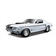 Maisto 1968 Ford Mustang Gt Cobra Jet Fastback 1:18 Diecast