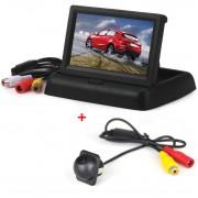 TUAO HD 4.3 inch Auto Display Achteruitrijcamera Scherm Opvouwbare Auto Achteruitrijcamera met Monitor Reserveren Digitale LCD TFT Verbinding