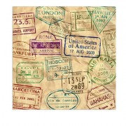 Beistle Around The World Luncheon Napkins, Multicolor