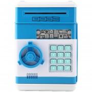 ER Simulación De La ATM De Mini Alcancía Azul Cielo Segura-Azul