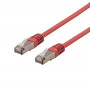 Deltaco Cat6a Nätverkskabel, 0,5m, röd