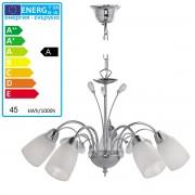 LeuchtenDirekt Energiespar-Pendelleuchte Hängelampe inkl. Leuchtmittel 5-flammig