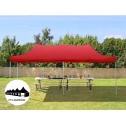 3x6m összecsukható pavilon Piros (Normál kivitelű Pop-Up)